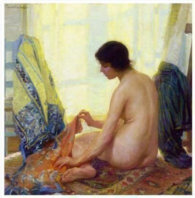 Leah - Robert Vonnoh Oil Painting,