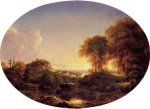 Catskill Landscape - Thomas Cole Oil Painting