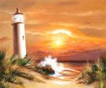 Lighthouse Effect - Oil Painting Reproduction On Canvas