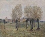 A Normandy Farm - Alfred Sisley Oil Painting