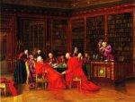 A Tedious Conference - Francois Brunery Oil Painting