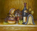Fruit and Wine - Oil Painting Reproduction On Canvas