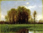 Landscape with Water - Alfred Thompson Bricher Oil Painting