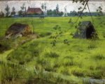 A Bit of Holland Meadows - William Merritt Chase Oil Painting