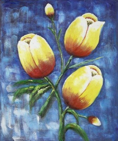 Branches of a Blooming Magnolia Tree - Oil Painting Reproduction On Canvas
