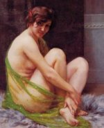 La Paresseuse - Guillaume Seignac Oil Painting
