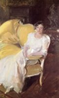 Clotilde Sitting on the Sofa - Oil Painting Reproduction On Canvas