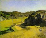 Road in Maine - Edward Hopper Oil Painting