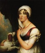 Sarah Trumbull with a Spaniel - Oil Painting Reproduction On Canvas