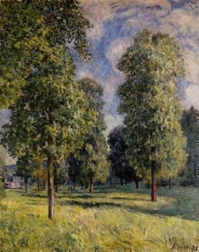 Landscape at Sevres - Alfred Sisley Oil Painting