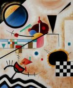Contrasting Sounds II - Wassily Kandinsky Oil Painting