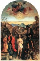 Baptism of Christ - Giovanni Bellini Oil Painting