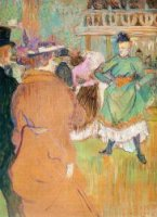 The Beginning of the Quadrille at the Moulin Rouge - Henri De Toulouse-Lautrec Oil Painting