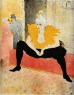 Elles: Cha-U-Kao, Chinese Clown, Seated - Henri De Toulouse-Lautrec Oil Painting