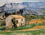 Houses in Provence, near Gardanne - Paul Cezanne Oil Painting