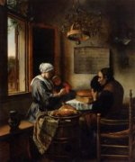 The Prayer before the Meal - Jan Steen oil painting