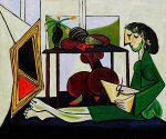 Interior with a Girl Drawing - Oil Painting Reproduction On Canvas