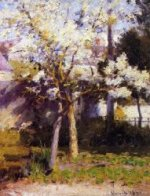Trees at Gertz - Robert Vonnoh Oil Painting