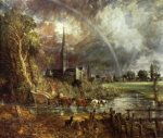Salisbury Cathedral from the meadows - John Constable Oil Painting
