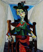 Dora Maar with Cat - Pablo Picasso Oil Painting