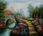 Broadwater Bridge - Oil Painting Reproduction On Canvas