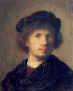 Self Portrait 17 - Rembrandt van Rijn Oil Painting