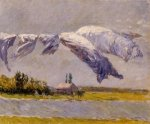 Laundry Drying, Petit Gennevilliers - Gustave Caillebotte Oil Painting
