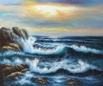 Seagull's Landing - Oil Painting Reproduction On Canvas