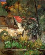 The House of Pere Lacroix in Auvers - Paul Cezanne Oil Painting