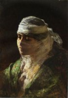 A Veiled Beauty of Constantinople - Oil Painting Reproduction On Canvas