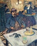 Monsieur Boleau in a Cafe - Henri De Toulouse-Lautrec Oil Painting