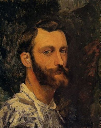 Self Portrait - Jean Frederic Bazille Oil Painting