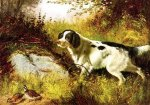 Dog and Quail - Arthur Fitzwilliam Tait Oil Painting