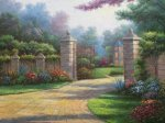 Summer Gate - Oil Painting Reproduction On Canvas