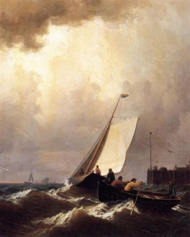 Rough Seas - William Bradford Oil Painting