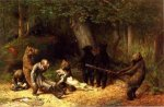 Making Game of the Hunter - William Holbrook Beard Oil Painting