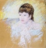 Young Girl with Brown Hair, Looking to Left - Mary Cassatt Oil Painting
