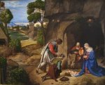 The Allendale Nativity (Adoration of the Shepherds) - Giorgio Barbarelli da Castelfranco Oil Painting