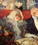 In a Private Room at the Rat Mort - Henri De Toulouse-Lautrec Oil Painting