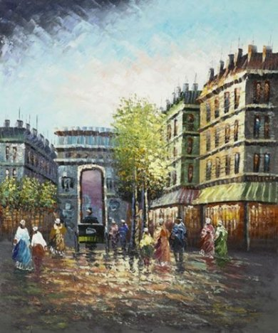 Gateway to France - Oil Painting Reproduction On Canvas