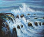 Threatening Tides - Oil Painting Reproduction On Canvas