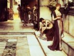 The Apodyterium - Sir Lawrence Alma-Tadema Oil Painting,
