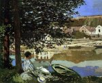 On the Bank of the Seine, Bennecourt - Claude Monet Oil Painting