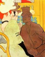 The Englishman at the Moulin Rouge - Henri De Toulouse-Lautrec Oil Painting