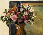Flowers in a Vase - Paul Cezanne Oil Painting