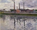 Factories at Argenteuil - Gustave Caillebotte Oil Painting
