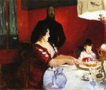 Fete Famillale: The Birthday Party - John Singer Sargent Oil Painting
