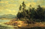View on Long Lake - Arthur Fitzwilliam Tait Oil Painting