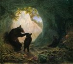 Bear and Cubs - William Holbrook Beard Oil Painting