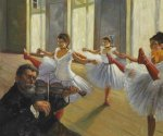 The Rehearsal III - Edgar Degas Oil Painting